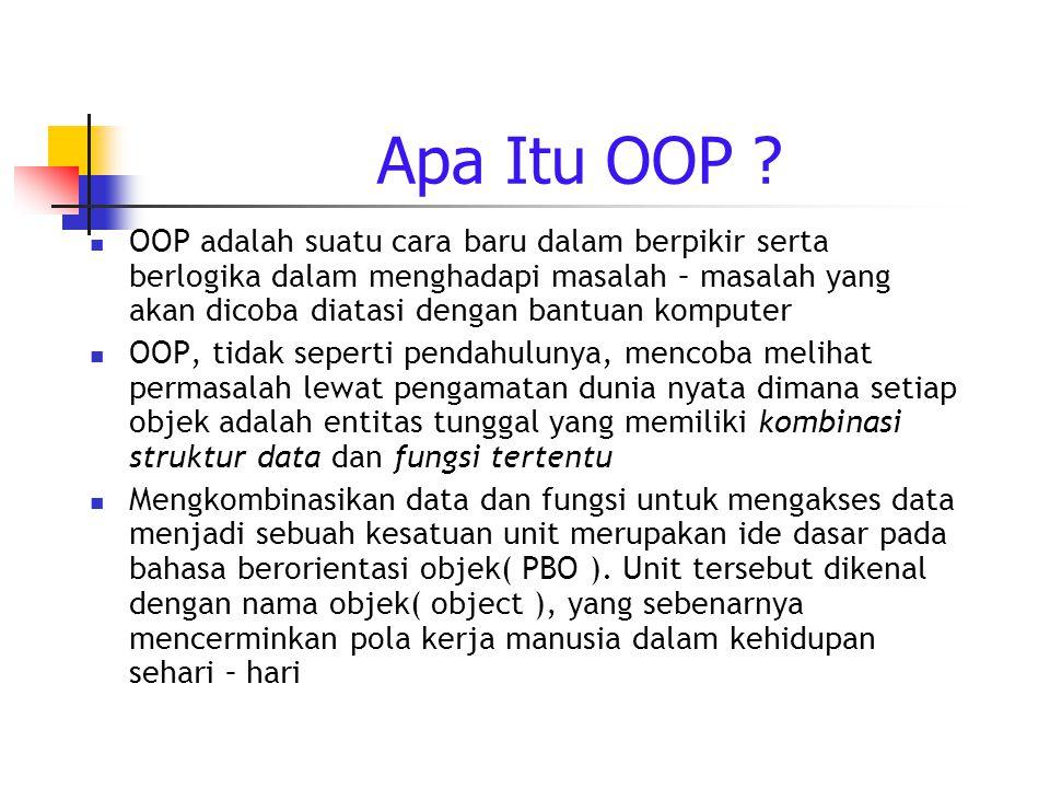 Apa Itu OOP .