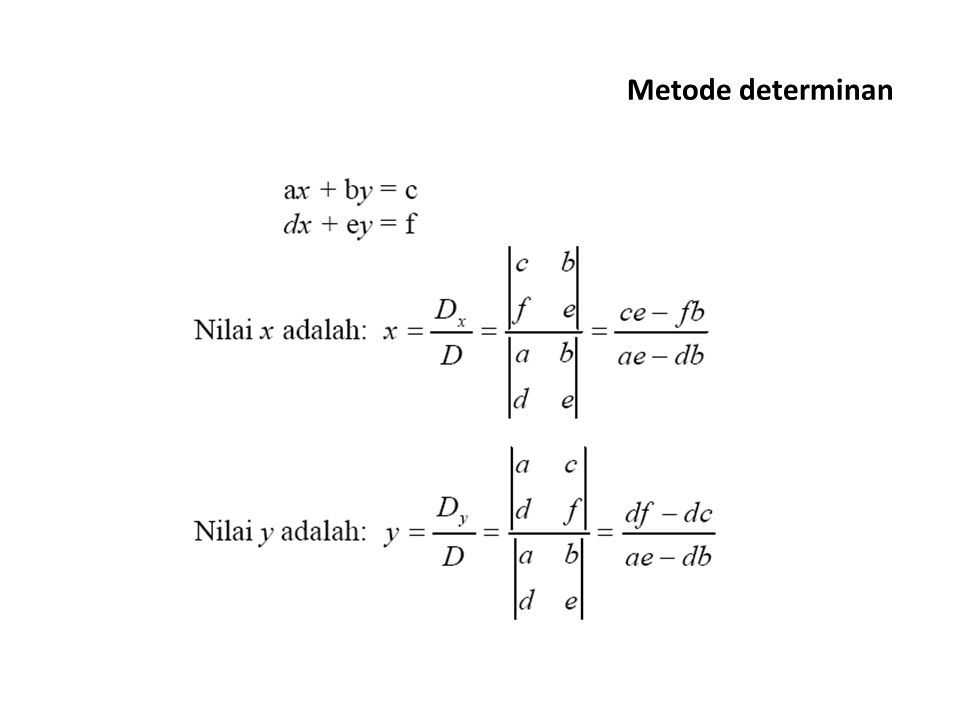 Metode determinan