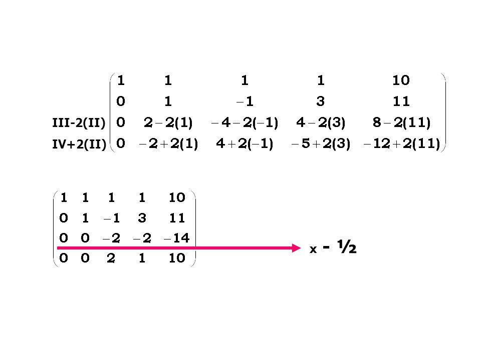 III-2(II) IV+2(II) III-2(II) IV+2(II) x - ½