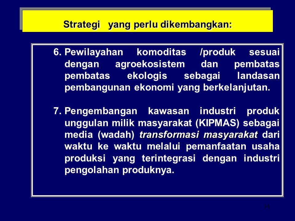 35 Strategi yang perlu dikembangkan: nilai tambah 4. Penerapan prinsip-prinsip efisiensi dan kreasi nilai tambah dalam setiap keputusan dan tindakan.