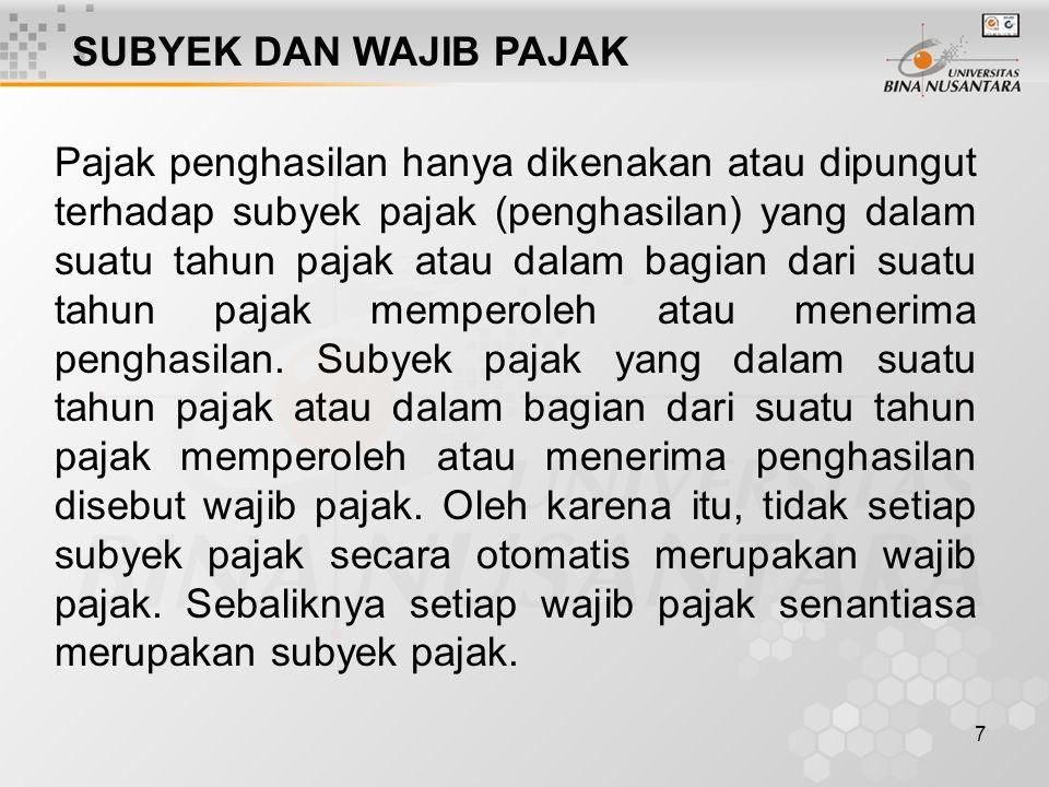 17 (a)badan perwakilan negara asing; (b)organisasi atau lembaga yang ditetapkan oleh Menteri Keuangan, dengan ketentuan: (1) Indonesia adalah salah satu anggotanya; dan (2) tidak menjalankan usaha atau melakukan kegiatan untuk memperoleh penghasilan di Indonesia, selain pemberian pinjaman kepada pemerintah (Indonesia) yang dananya berasal dari iuran para anggota.