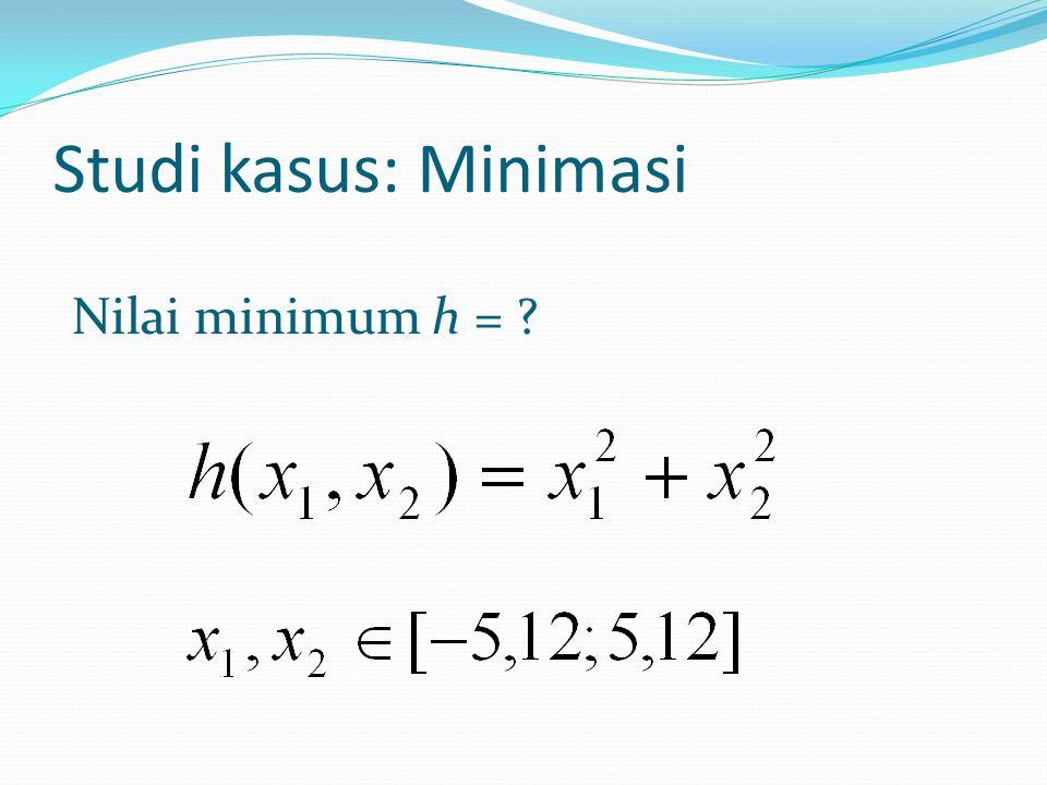 Studi kasus: Minimasi Nilai minimum h = ?