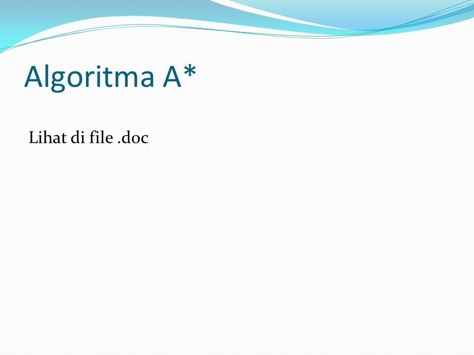 Algoritma A* Lihat di file.doc