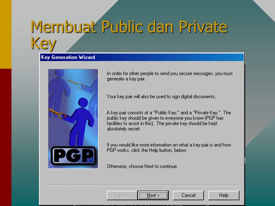 Membuat Public dan Private Key