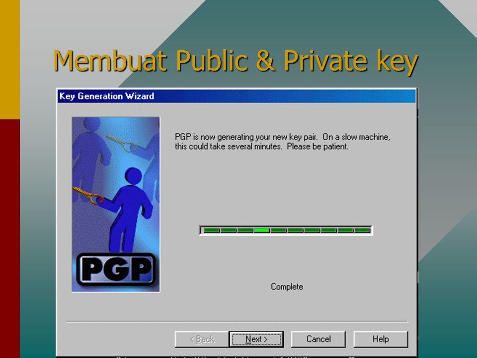 Membuat Public & Private key