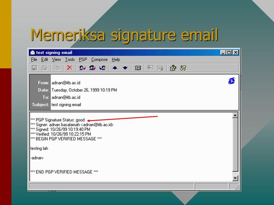 Memeriksa signature email