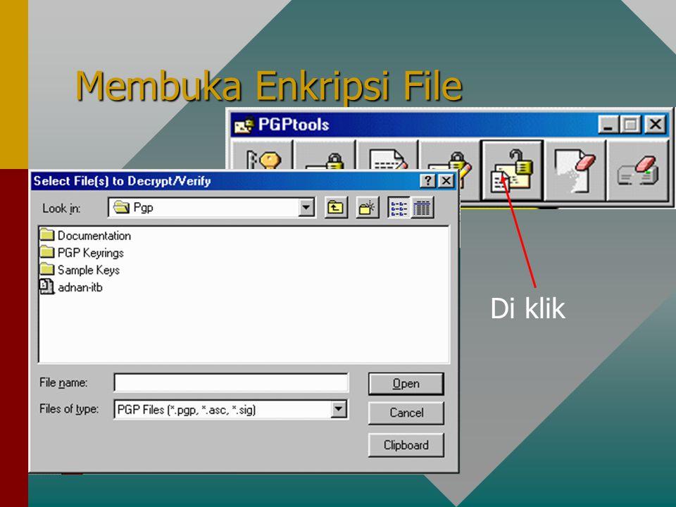 Membuka Enkripsi File Di klik