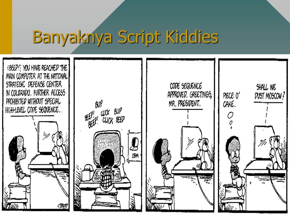 Banyaknya Script Kiddies