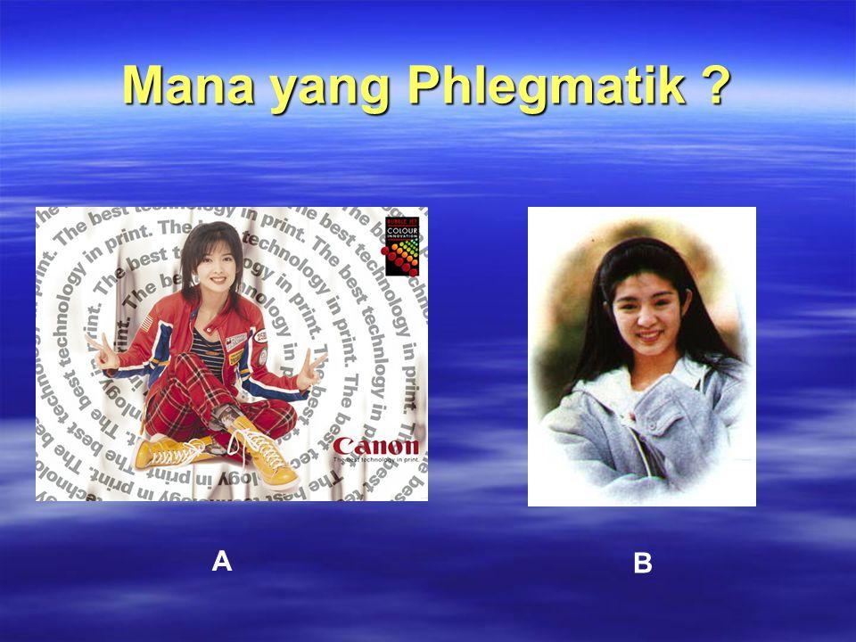 Mana yang Phlegmatik ? A B
