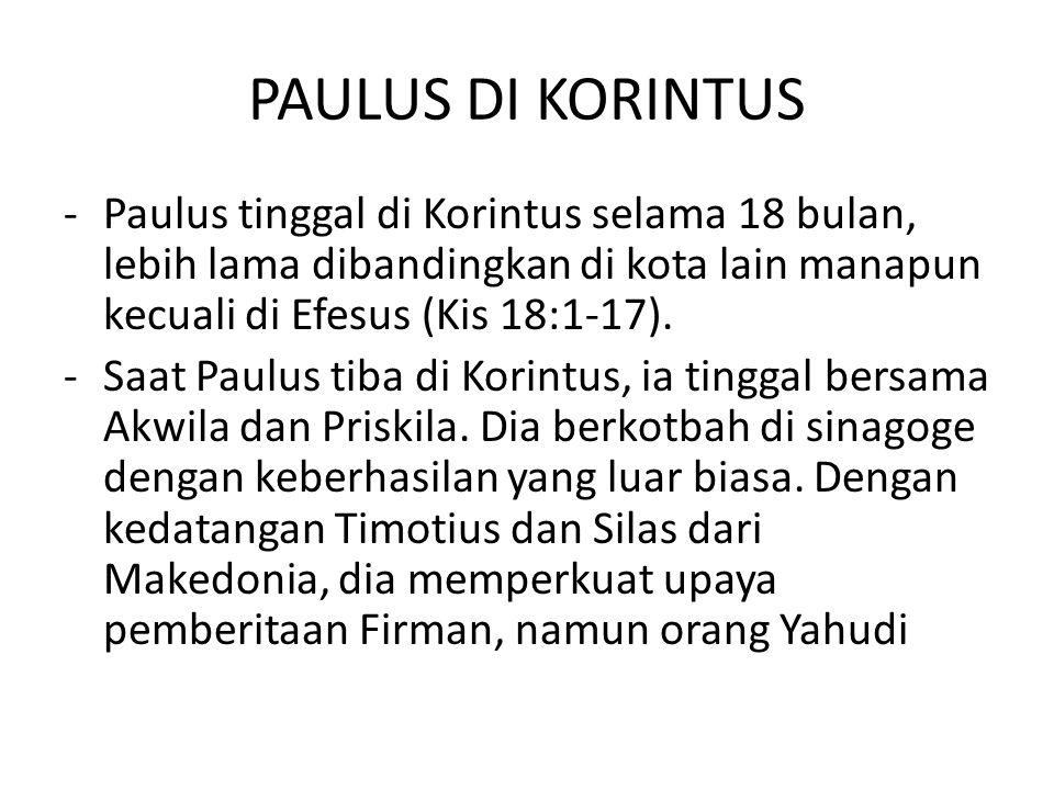 - Penderitaan bagi Paulus memberikan faedah karena membawanya kembali bersandar kepada Allah dan mengajar dia untuk bergantung sepenuhnya kepada Allah.