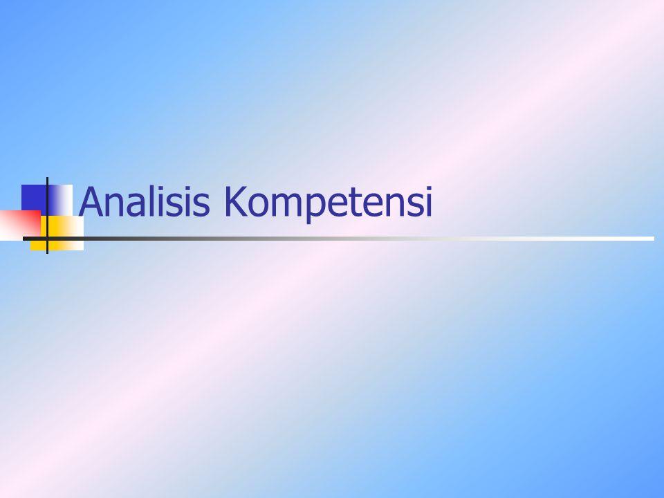 Analisis Kompetensi