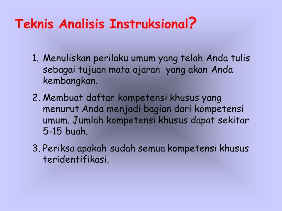 Teknis Analisis Instruksional .