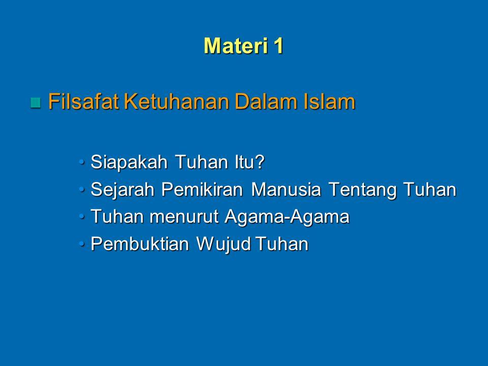 Materi 1 Filsafat Ketuhanan Dalam Islam Siapakah Tuhan Itu?Siapakah Tuhan Itu.