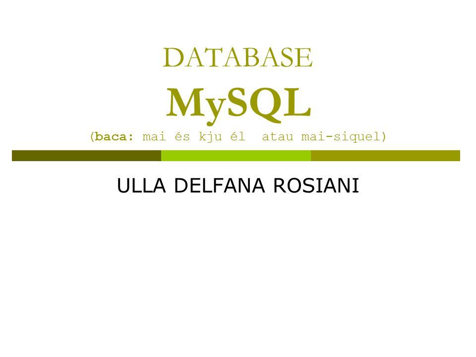 Sekilas tentang Database  Singkatnya, database adalah tempat dimana kita akan menyimpan data yang dibutuhkan web kita.