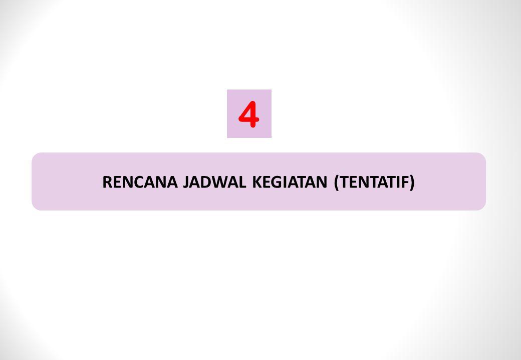 RENCANA JADWAL KEGIATAN (TENTATIF) 4