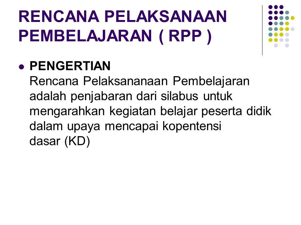 KOMPONEN RPP IDENTITAS RPP: a.Satuan pendidikan b.
