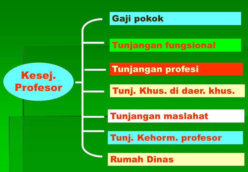 Kesej.Profesor Tunjangan fungsional Gaji pokok Tunjangan profesi Tunj.
