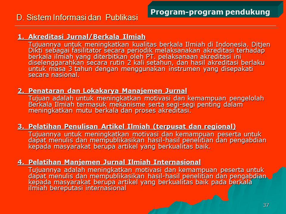 36 7.Kontes Robot Indonesia (KRI) Untuk menumbuhkembangkan kreativitas dan minat para mahasiswa dalam teknologi maju khususnya teknologi robotika yang