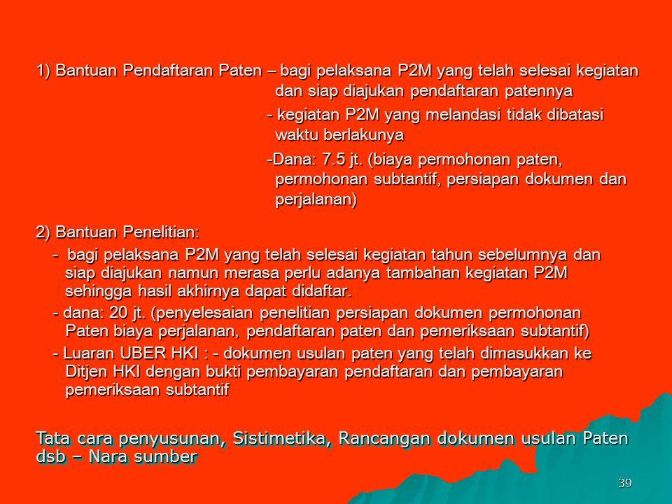 38 5.Sosialisasi Pengelolaan Kekayaan Intelektual (KI) Tujuannya adalah untuk menumbuhkembangkan komitmen dan atau kepedulian PT dalam mengimplementas