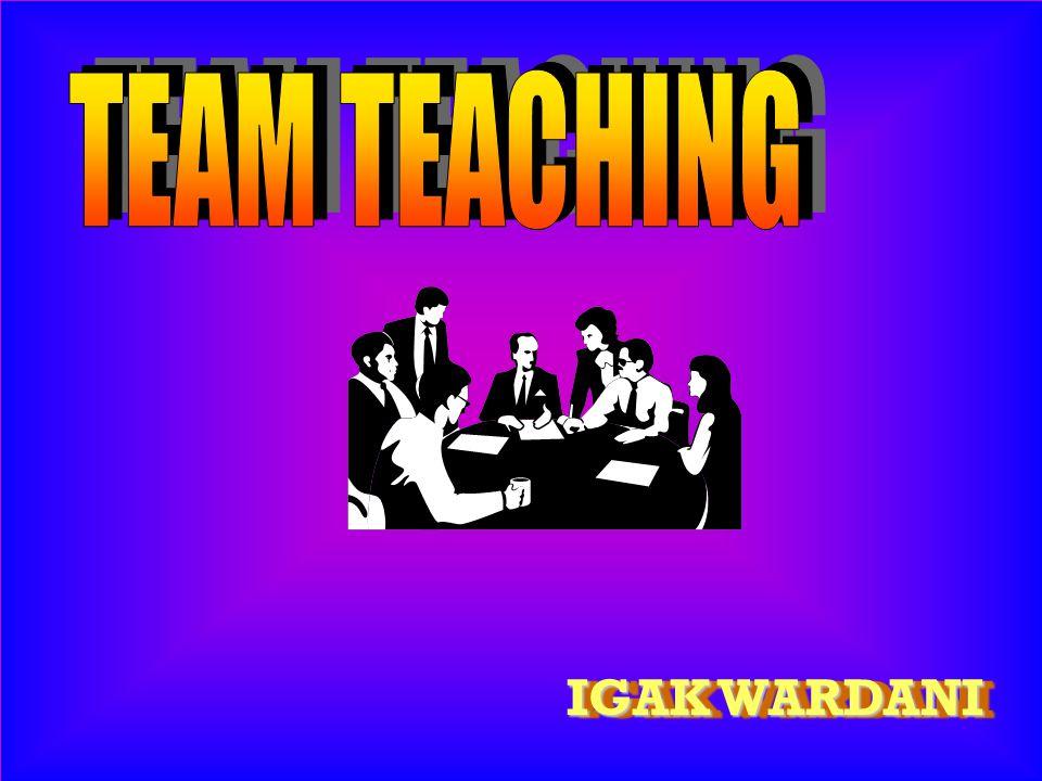 v tetapkan tujuan team teaching v variasi/jenis team teaching v sepakati GBMK v sepakati pengorganisasian materi v pilih model team teaching v langkah pelaksanaan v sesuai dengan kesepakatan v siapa, kapan, di mana