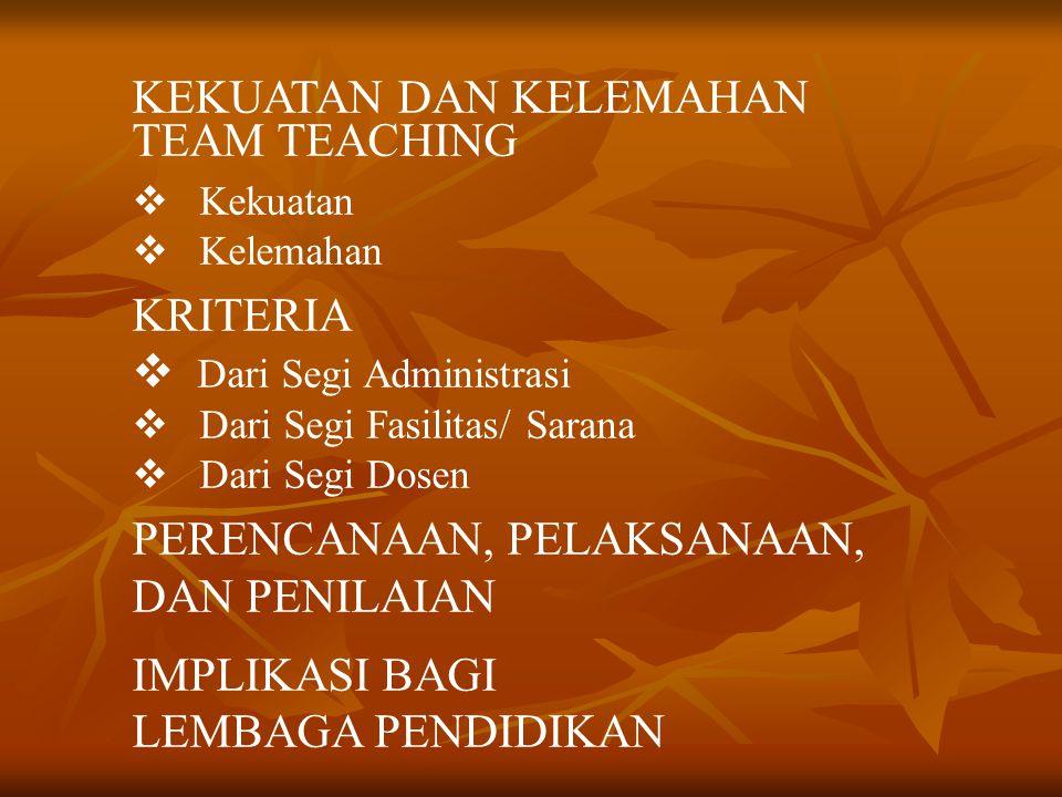 PENDAHULUAN  L atar Belakang  T ujuan  S istematika Penulisan HAKEKAT TEAM TEACHING  D efinisi  M engapa Team Teaching Diperlukan VARIASI TEAM TE