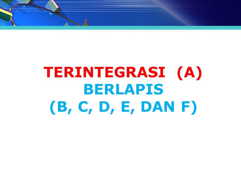MODEL PROGRAM PPG TERINTEGRASI (A) BERLAPIS (B, C, D, E, DAN F)
