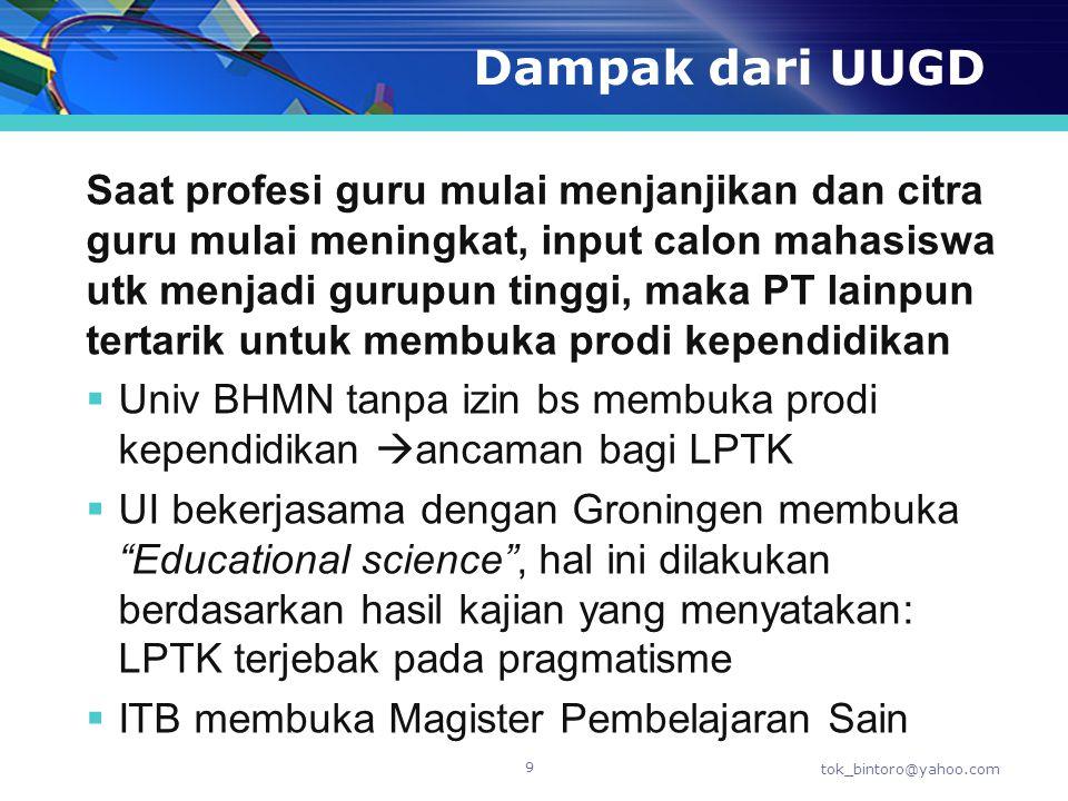  Penetapan LPTK sebagai penyelenggara program PPG didasarkan atas hasil evaluasi dokumen usulan dan verifikasi lapangan yang dilakukan oleh tim yang ditugaskan Direktur Jenderal.