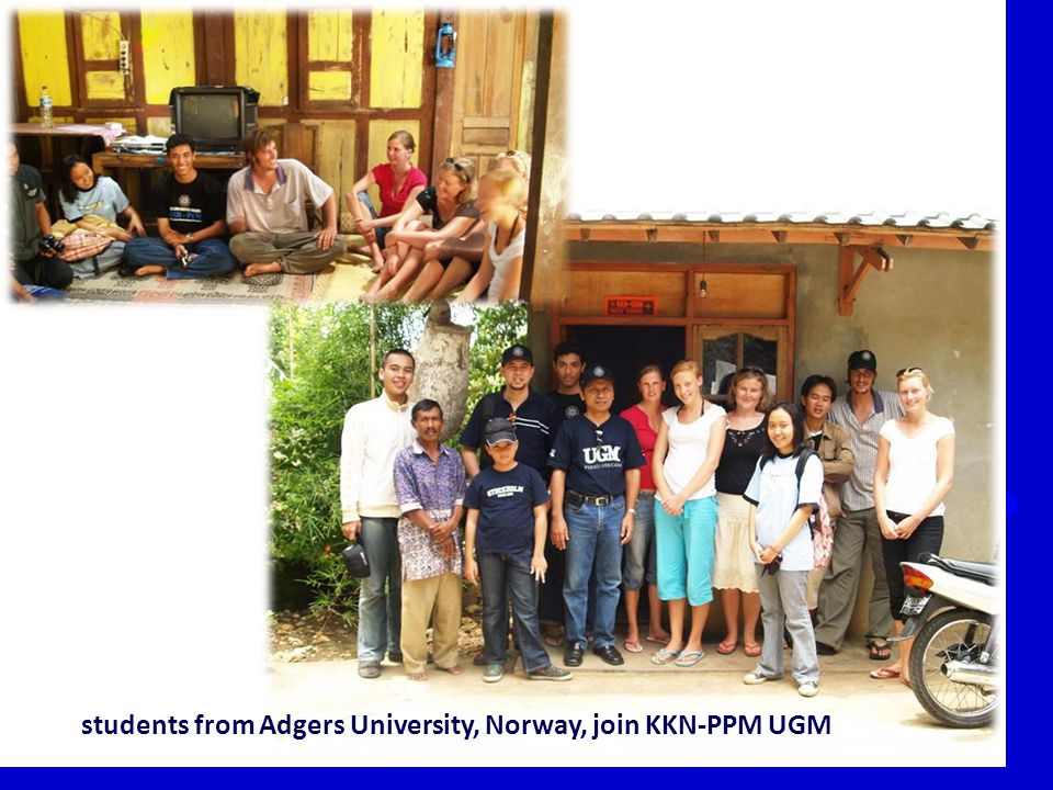 33 students from Adgers University, Norway, join KKN-PPM UGM