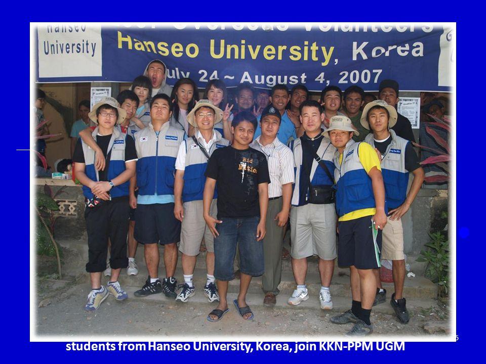 35 students from Hanseo University, Korea, join KKN-PPM UGM