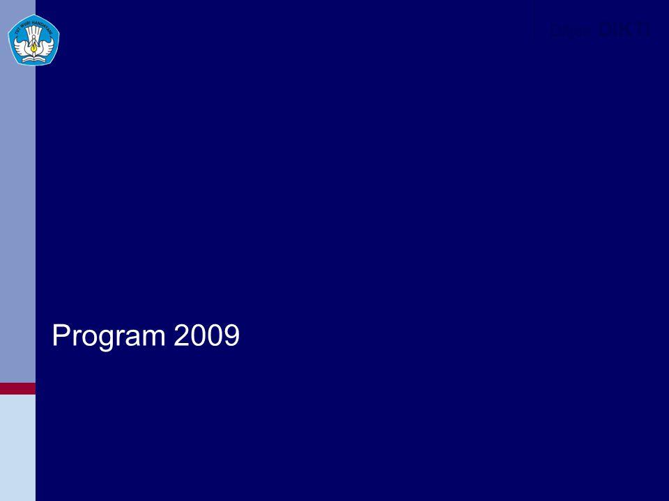 Ditjen DIKTI Program 2009