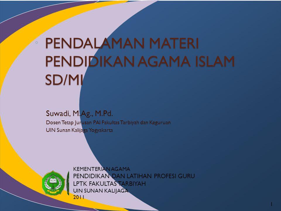 Cakupan Kompetensi PAI SD Standar KompetensiKompetensi Dasar Al Qur'an 1.