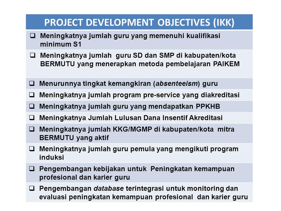 No.PDO IKK Kondisi Awal 2008 Hasil Yang Dicapai 2013 Hasil Yang Diharapkan 2013 1.