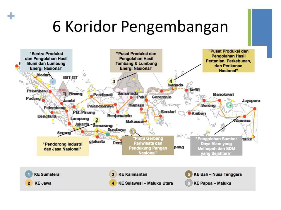 + 6 Koridor Pengembangan