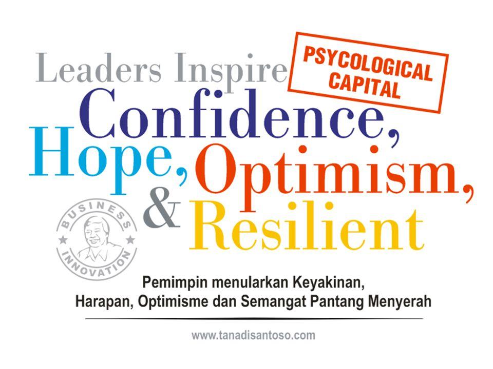 4 PsyCaps (Psycological Capital) Confidence: Keyakinan akan keberhasilan, akan menciptakan keberhasilan.