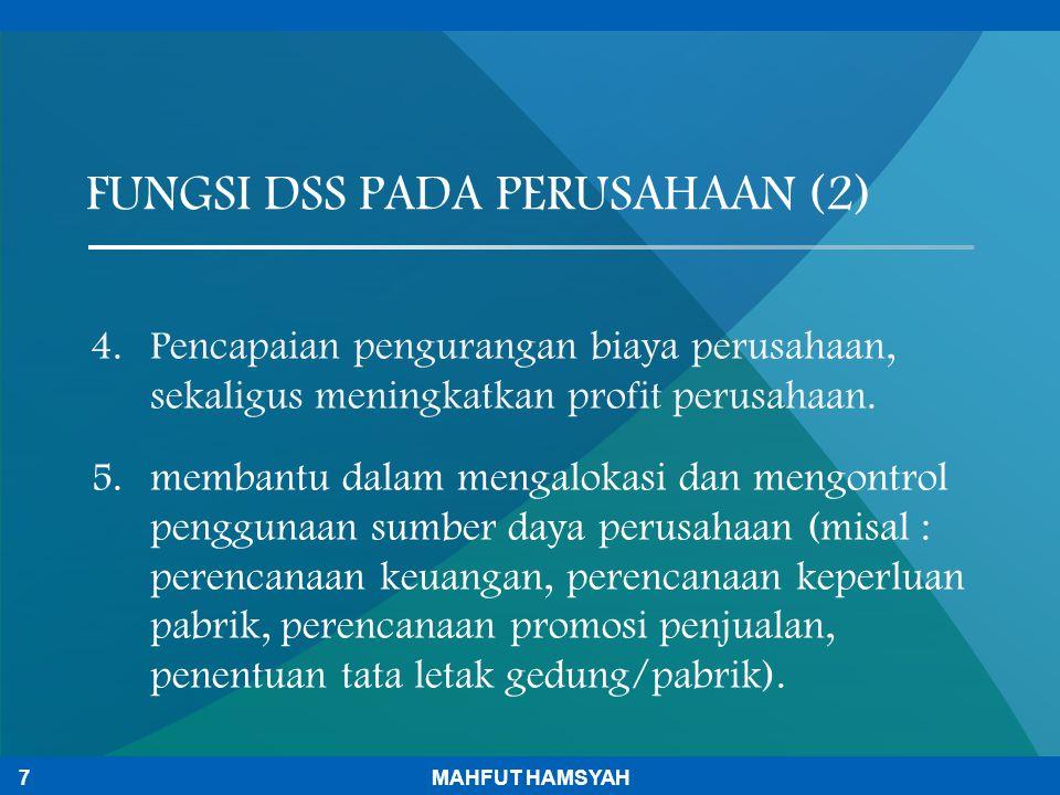 4.Pencapaian pengurangan biaya perusahaan, sekaligus meningkatkan profit perusahaan. 5.membantu dalam mengalokasi dan mengontrol penggunaan sumber day