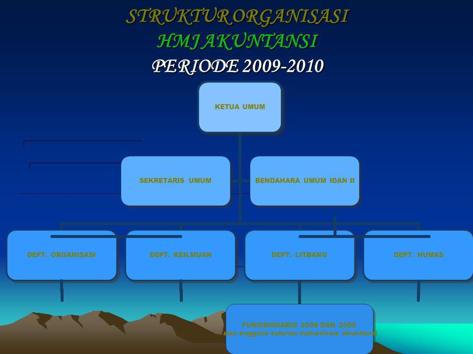 STRUKTUR ORGANISASI HMJ AKUNTANSI PERIODE 2009-2010