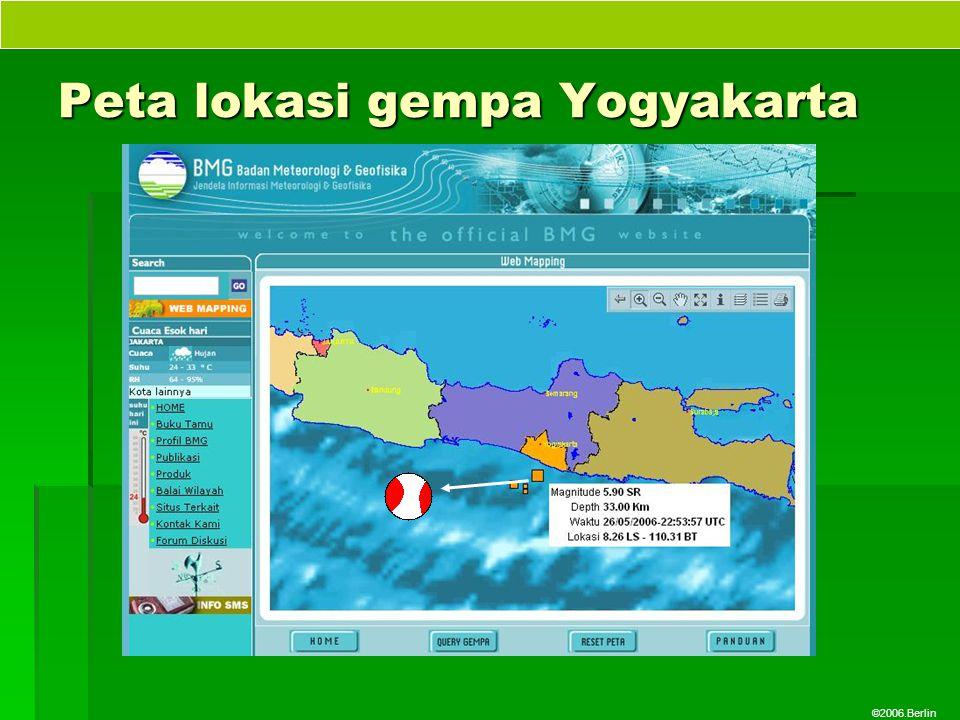 ©2006.Berlin Peta lokasi gempa Yogyakarta