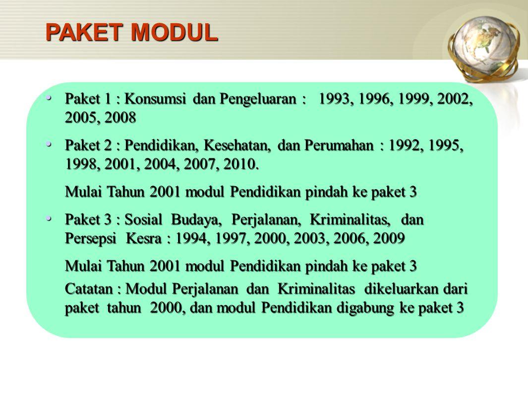 Informasi yang digunakan untuk melengkapi kerangka sampel adalah banyaknya kepala keluarga (KK), dan muatan blok sensus dominan (pemukiman biasa, pemukiman mewah, pemukiman kumuh).