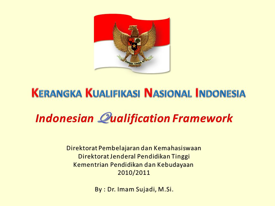 Penganggur yang seharusnya ditingkatkan kemampuannya oleh dunia industri dan pemangku kepentingan lainnya Penganggur yang seharusnya ditingkatkan kemampuannya oleh lembaga pendidikan non formal Penganggur yang seharusnya ditingkatkan kemampuannya oleh masyarakat dan lembaga pendidikan informal Penganggur yang seharusnya ditingkatkan kemampuannya oleh lembaga pendidikan formalKKNI Tenaga kerja yang terkualifikasi KKNI Peningkatan kualitas SDM Indonesia adalah tanggung jawab bersama