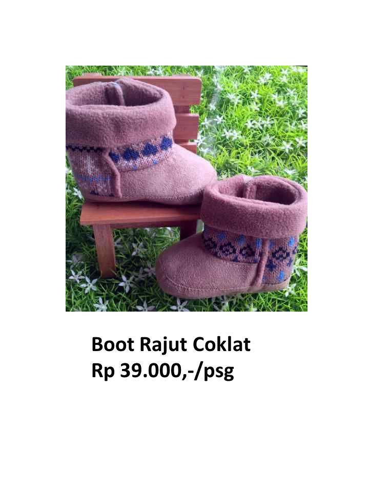 Boot Rajut Coklat Rp 39.000,-/psg