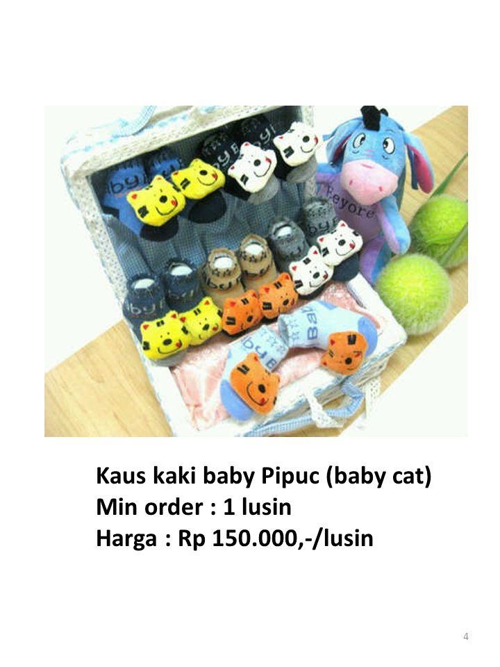 4 Kaus kaki baby Pipuc (baby cat) Min order : 1 lusin Harga : Rp 150.000,-/lusin