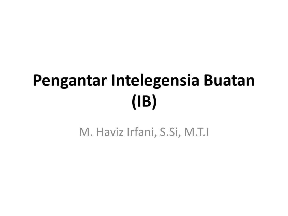 Pengantar Intelegensia Buatan (IB) M. Haviz Irfani, S.Si, M.T.I