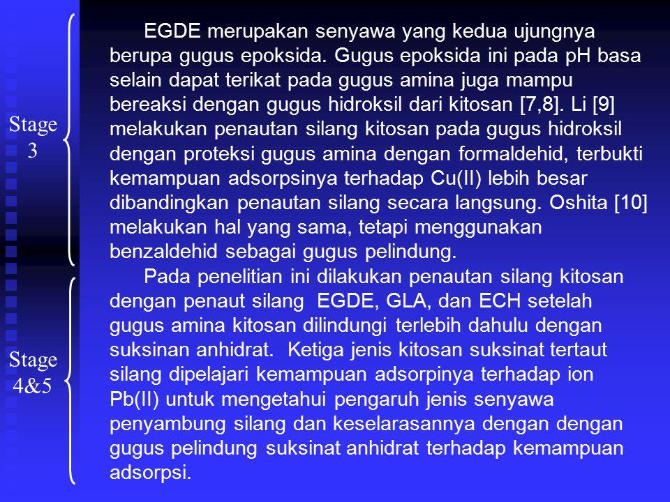 EGDE merupakan senyawa yang kedua ujungnya berupa gugus epoksida.