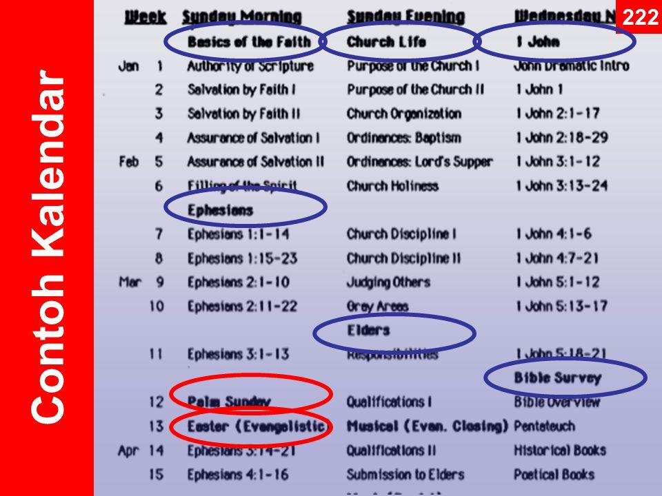 Contoh Kalendar 222