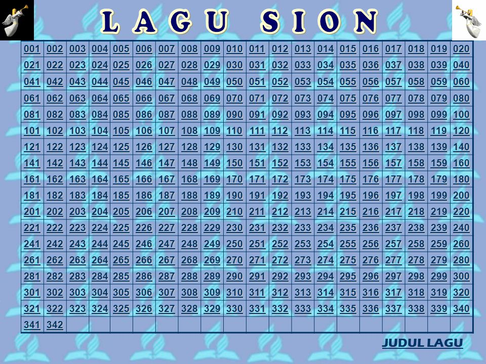A B C-D-E H-I-J K-L M-N-O P-R S T-W Y JUDUL LAGU SION