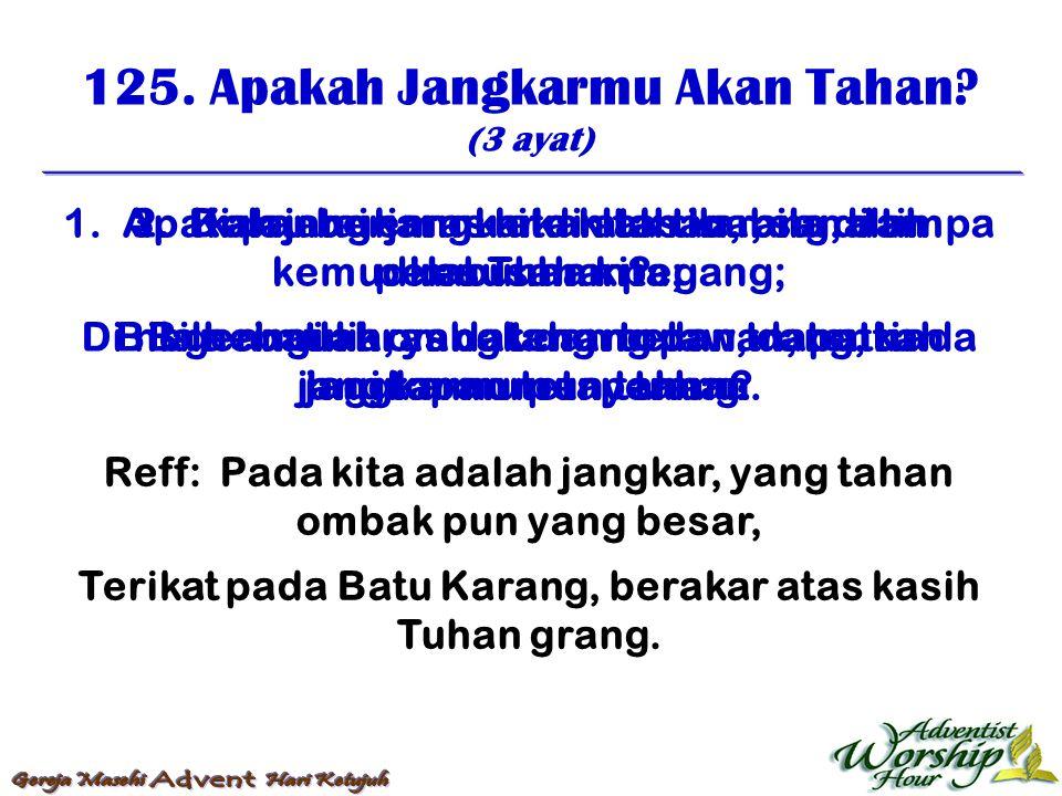 126.Duduk Dekat Kaki Yesus (3 ayat) 1.