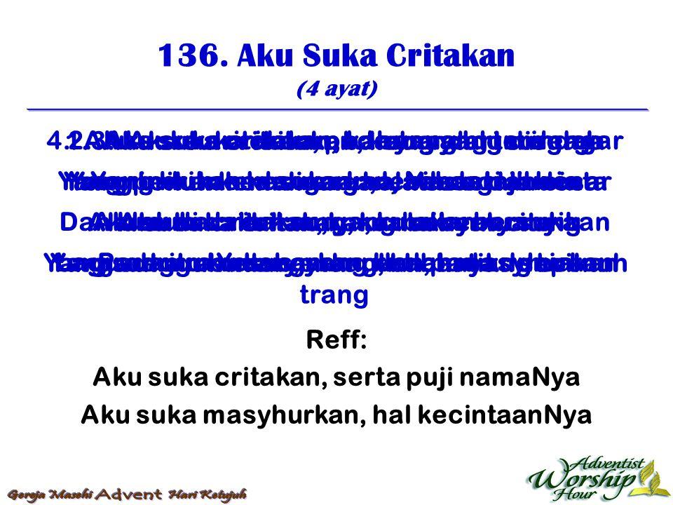 137.Yang Dengan Tangis Menabur (4 ayat) 1.