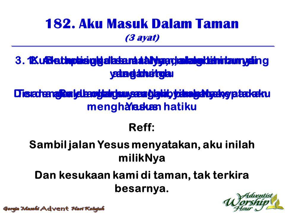 183.Inilah Jam Ku Berdoa (3 ayat) 1.
