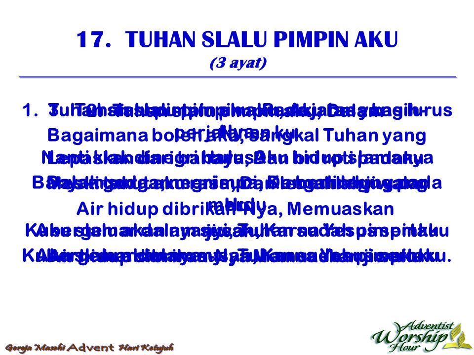 18.JIKA DI LAUT TENANG (4 ayat) 1.