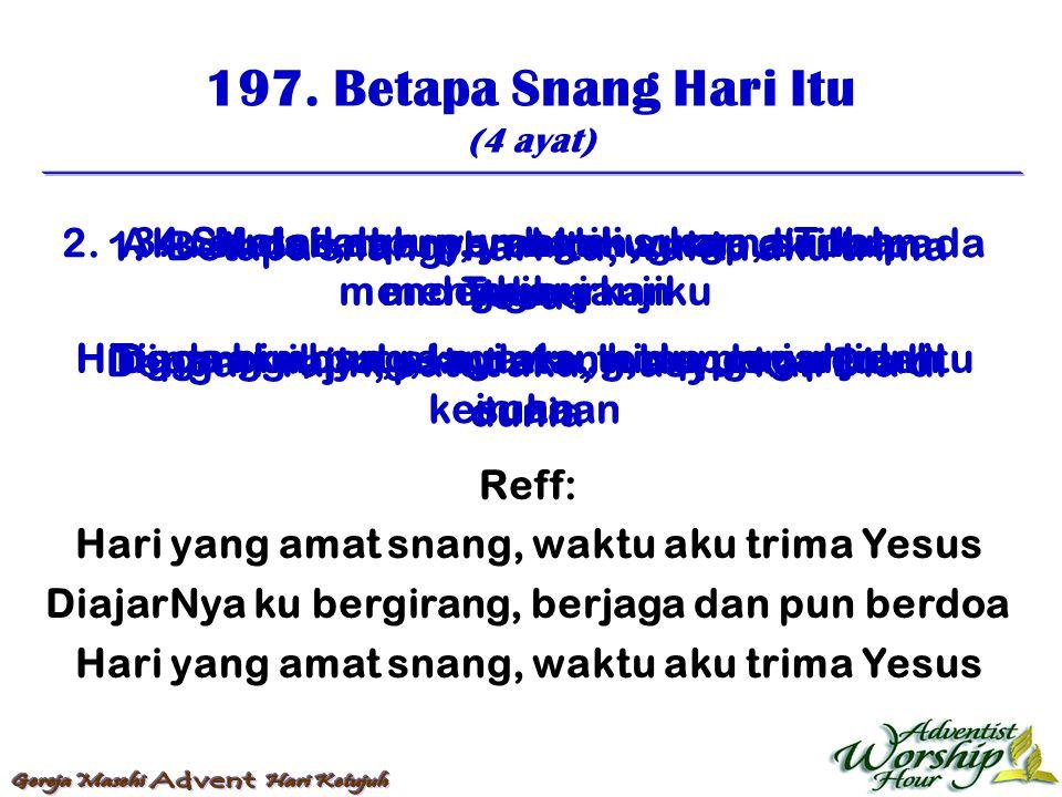 198.Bila Pandang Salib Itu (4 ayat) 1.